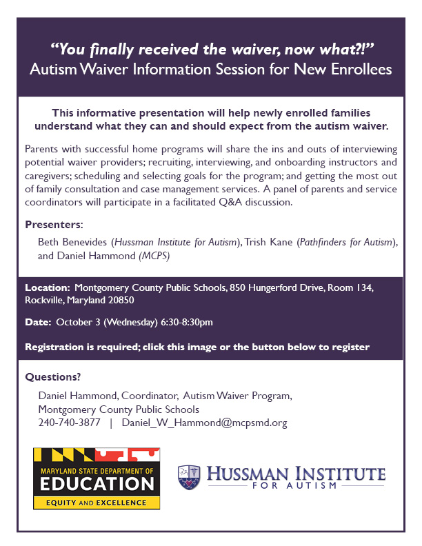 Maryland Autism Waiver Information Session MC - website
